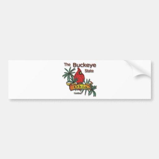 Ohio Buckeye Cardinal Bumper Sticker