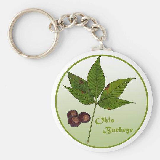Ohio Buckeye Tree Keychain