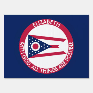 Ohio Burgee The Buckeye State Personalized Flag Lawn Signs