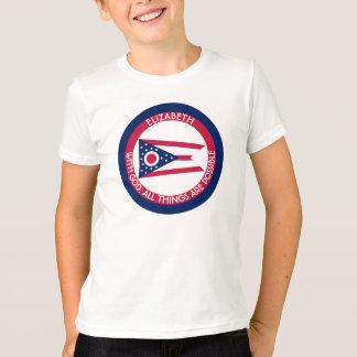 Ohio Burgee The Buckeye State Personalized Flag T-Shirt