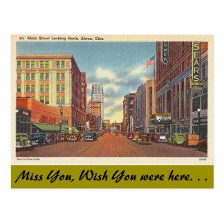 Ohio, calle principal, Akron Postal
