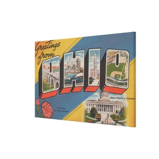 Ohio (Capital del Estado/flor) - escena grande de  Impresiones En Lona Estiradas