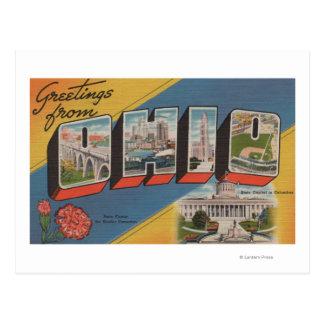 Ohio (Capital del Estado/flor) - escena grande de Tarjetas Postales