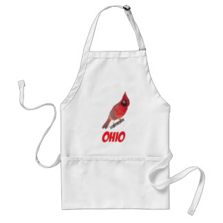 Ohio Cardinal Apron