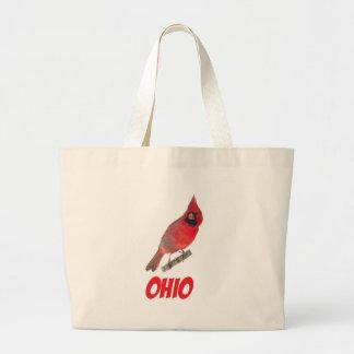 Ohio Cardinal Canvas Bags