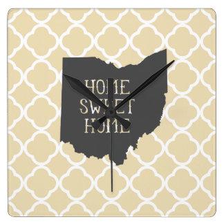 Ohio casero dulce casero reloj de pared
