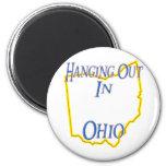 Ohio - colgando hacia fuera imán para frigorifico