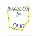 Ohio - colgando hacia fuera tarjeta postal