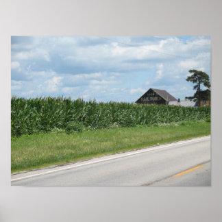 Ohio cornfield posters