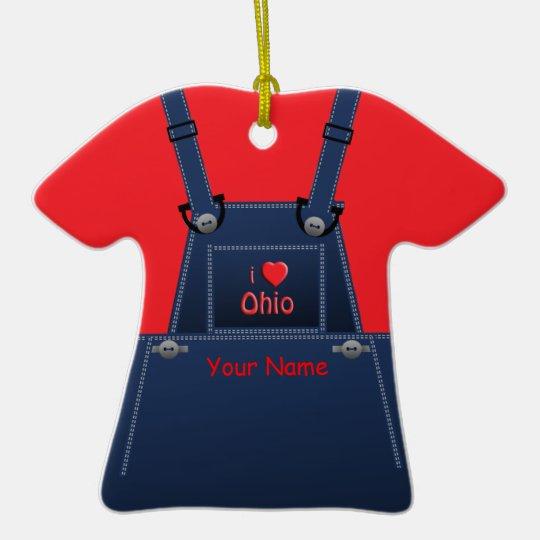 Ohio Counrty Overalls Heart Ornament