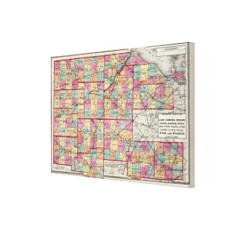 Ohio Counties 2 Gallery Wrapped Canvas
