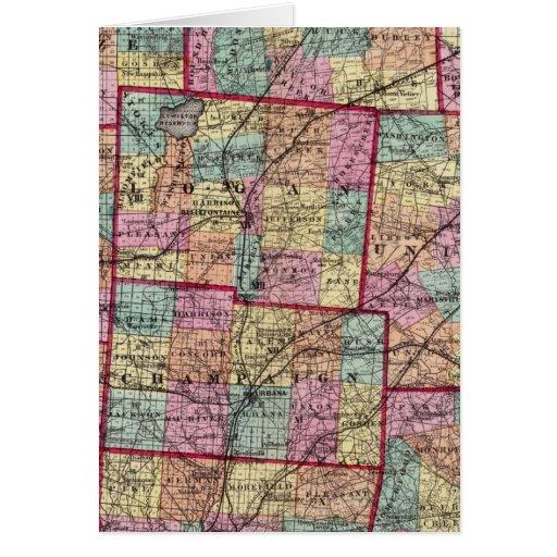 Ohio Counties 2 Greeting Card