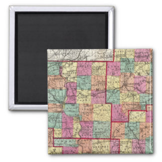 Ohio Counties 2 Inch Square Magnet