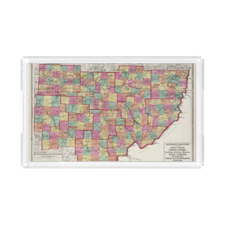 Ohio Counties Rectangle Serving Trays