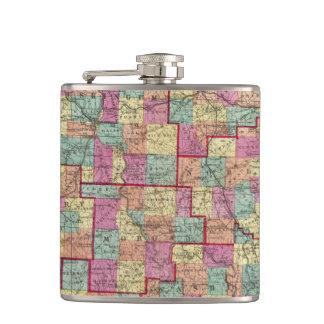 Ohio Counties Hip Flasks
