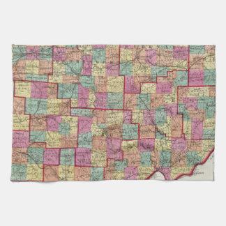 Ohio Counties Hand Towel