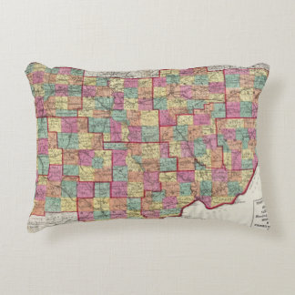 Ohio Counties Accent Pillow