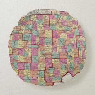 Ohio Counties Round Pillow