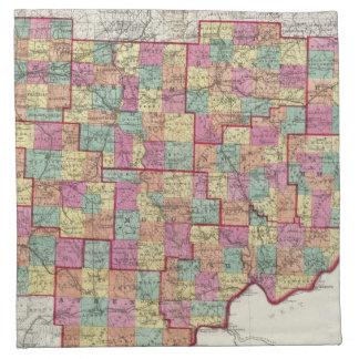 Ohio Counties Cloth Napkin