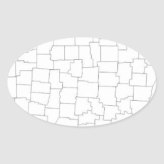 Ohio Counties Oval Sticker