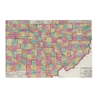 Ohio Counties Placemat