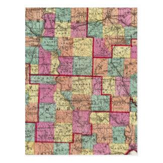 Ohio Counties Postcard