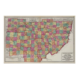 Ohio Counties Poster
