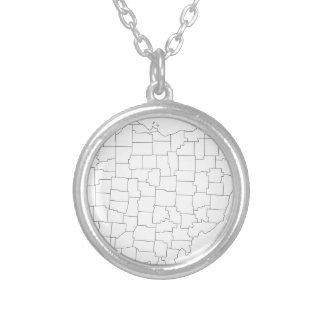 Ohio Counties Silver Plated Necklace
