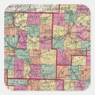 Ohio Counties Square Sticker
