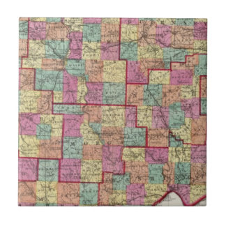 Ohio Counties Small Square Tile
