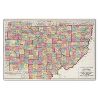 Ohio Counties Tissue Paper