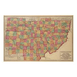 Ohio Counties Wood Wall Art