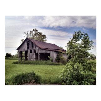ohio country barns postcard