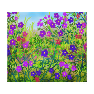 Ohio Country Wildflowers Wrapped Canvas