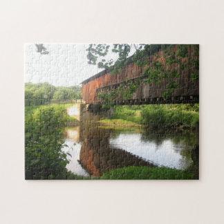 Ohio Covered Bridge and Stream Jigsaw Puzzle