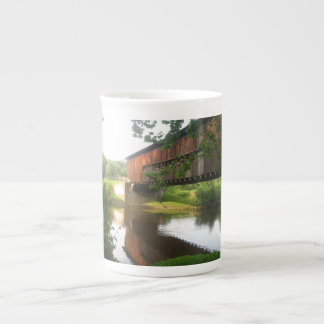 Ohio Covered Bridge and Stream Tea Cup