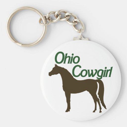 Ohio Cowgirl Keychain