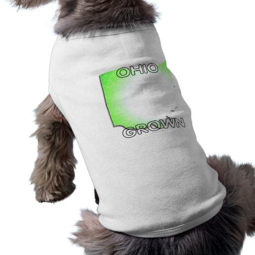 Ohio crecido playera sin mangas para perro