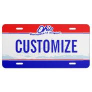 Ohio Custom License Plate at Zazzle