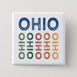 Ohio Cute Colorful Button