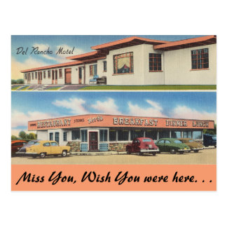Ohio, Del Rancho Motel, Restaurant Postcard