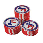 Ohio Democratic Party Set Of Poker Chips