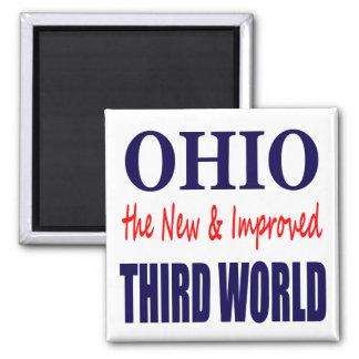 Ohio el TERCER MUNDO nuevo y mejorado Imán Cuadrado