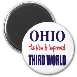 Ohio el TERCER MUNDO nuevo y mejorado Imán Redondo 5 Cm