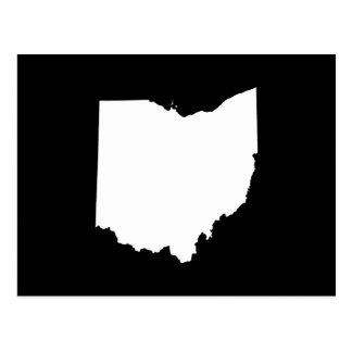 Ohio en blanco y negro tarjeta postal