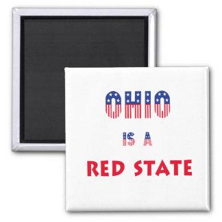 Ohio es un estado rojo imán cuadrado