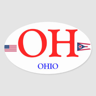 Ohio* Euro-style Oval Sticker