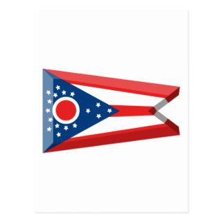 Ohio Flag Gem Postcard