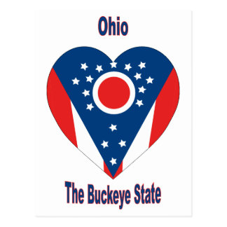 Ohio Flag Heart Postcard