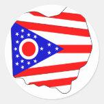 Ohio Flag Map Sticker